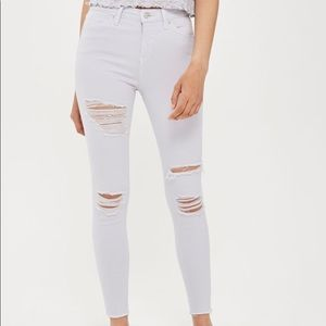 Topshop • Jamie Lilac Ripped Jeans